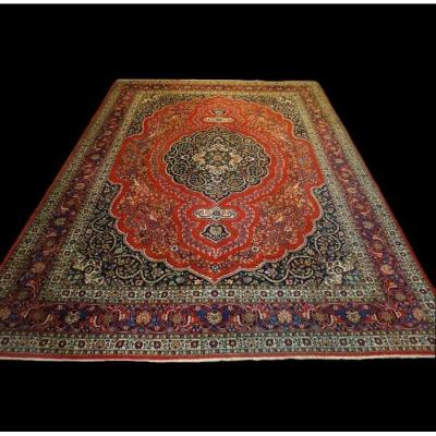 Tapis Ispahan, Kork Wool, 310 X 395 Cm, Perfect Conditions