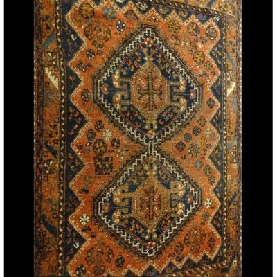 Gashghaï Carpet, Iran, Wool On Wool, 115 Cm X 152 Cm, End Of XIXth Century