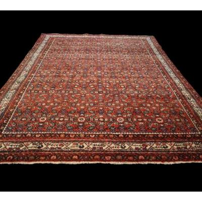 Persian Macchad Rug, Khorassan Decor, 235 Cm X 312 Cm, Iran, Hand-knotted Wool, 1980, Good Condition