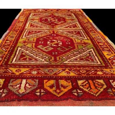 Tapis Anatolien ancien, Turquie, 59 cm x 102 cm, laine sur laine, milieu du XXème siècle