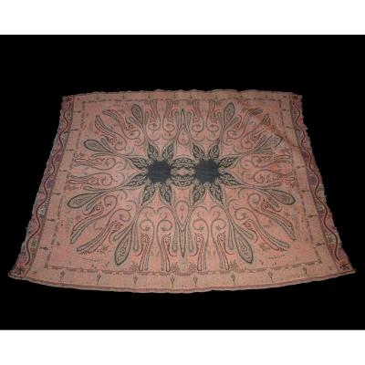 Table Mat, Wool, 122 Cm X 156 Cm, France, Cashmere Decor, Late 19th Century, Good Condition