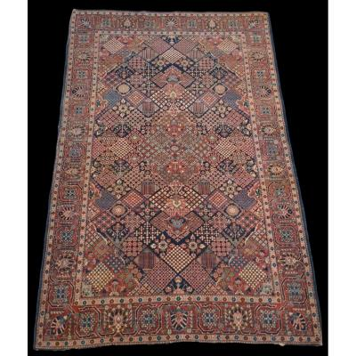 Old Persian Samam Rug, 132 Cm X 200 Cm, Wool And Silk, Iran, First Part Of The XXth Century