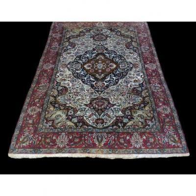 Tapis du Cachemire, Soie, 130 cm x 192 cm, Milieu du XXème siècle, en bon état,