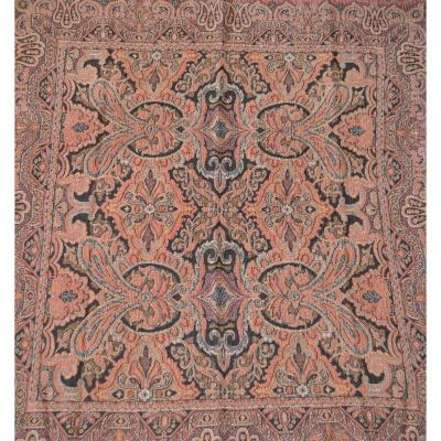 Two Wool Pedestal Rugs, Around 1900, Very Good And Good Condition