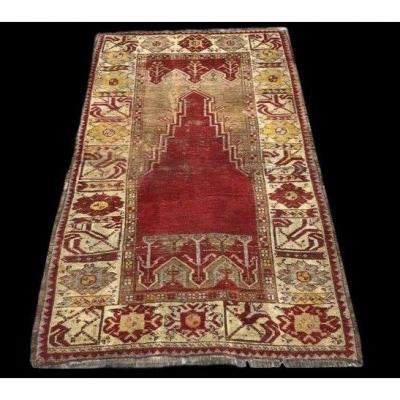 Old Moudjour Rug, Anatolia, 105 Cm X 160 Cm, Wool On Wool, Mid 19th Century