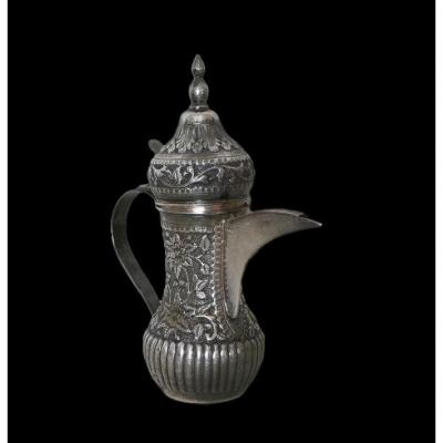 Dallah Coffee Maker, Sterling Silver, Turkestan, End Of XIXth Century (central Asia)