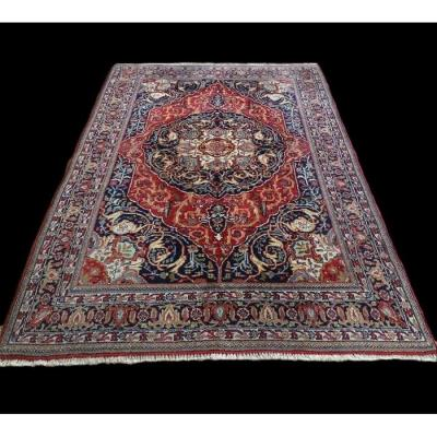Persian Tabriz Rug, 135 Cm X 195 Cm, Iran, Hand-knotted Wool, 1980, Perfect Condition