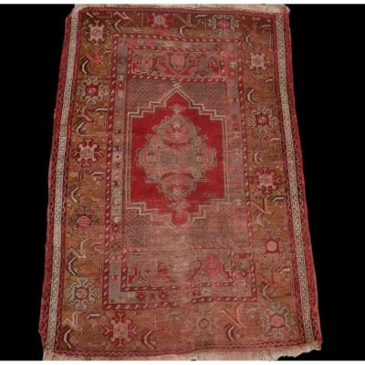 Old Kiz Bergama Rug, Anatolia, 105 Cm X 162 Cm, Wool On Wool, Late 19th, Early 20th