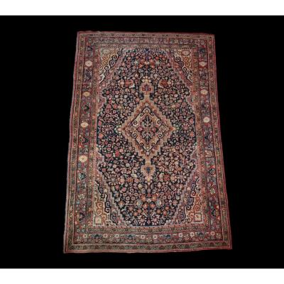 Ancient Persian Mahal Rug, Iran, 135 Cm X 212 Cm, Hand Knotted Wool, Mid 20th Century, Circa 1950