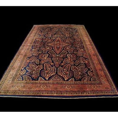 Persian Rug, Sarough, 200 Cm X 302 Cm, Iran, Hand-knotted Wool Circa 1960 In Perfect Condition