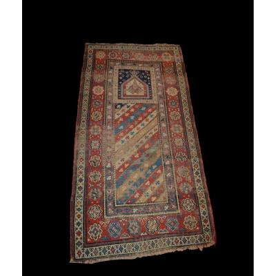 Old Dagestan Carpet, Caucasus, 84 Cm X 154 Cm, 19th Century