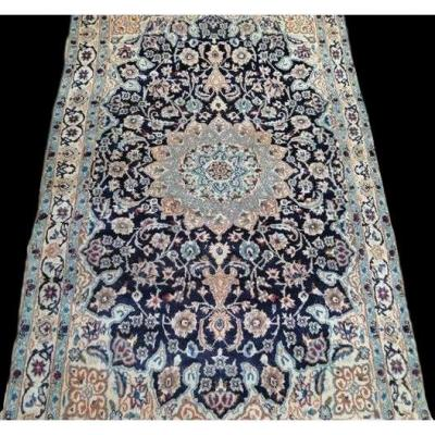 Nain Persian Rug, 115 Cm X 202 Cm, Kork Wool, Hand Knotted Around 1960, Iran, Best Condition