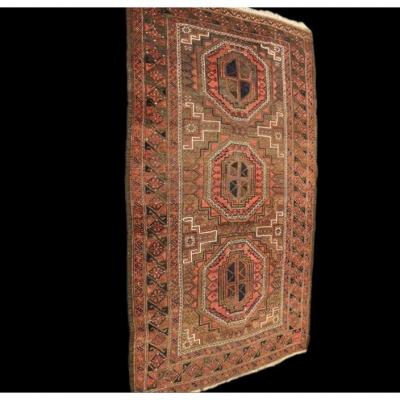 Old Afghan Rug, 132 Cm X 223 Cm, Wool On Wool, Afghanistan, 1930-1950, Very Good Condition