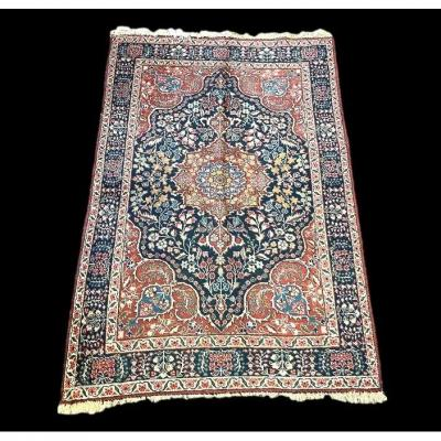 Old Persian Tabriz Rug, 138 Cm X 190 Cm, Iran, Hand-knotted Wool Around 1930, Good Condition