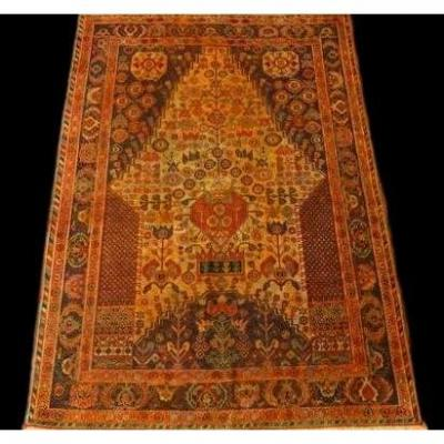 Persian Rug Yezd, 102 Cm X 150 Cm, Iran, Hand-knotted Wool, Circa 1970, Very Good Condition