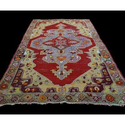 Tapis d'Anatolie ancien, 130 cm x 228 cm, vers 1950, laine sur laine, en bon état