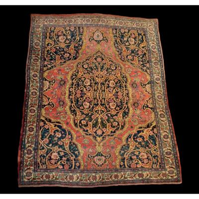Old Persian Sarough Rug, 142 Cm X 176 Cm, Great Finesse, 19th Century, Very Good Condition