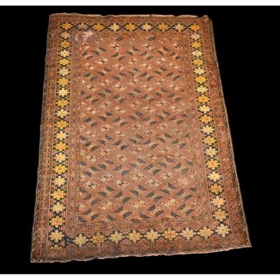 Old Turcoman Carpet, 153 Cm X 216 Cm, Wool On Wool, XIXth Century, Rare Type