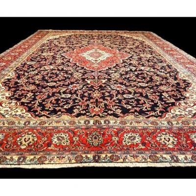 Persian Rug, Sarough, 255 Cm X 362 Cm, Iran, Hand-knotted Wool Around 1980, Very Good Condition