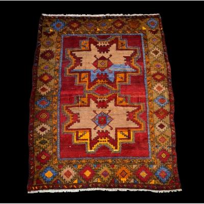 Ancient Sivas Carpet From Anatolia, 136 Cm X 174 Cm, Wool On Wool, Before 1950, Superb