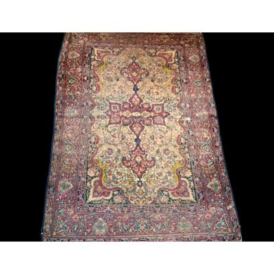 Old Persian Isfahan Rug, Late 18th Century, Early 19th Century, 140 Cm X 202 Cm, Iran, Silk / Silk