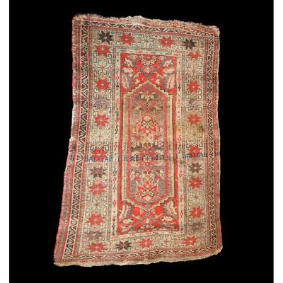 Old Kazak Carpet, 74 Cm X 106 Cm, Caucasus, Mid-19th Century, Good Condition