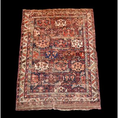 Old Persian Bakhtiar Rug, 125 Cm X 170 Cm, Hand-knotted Wool, 19th Century