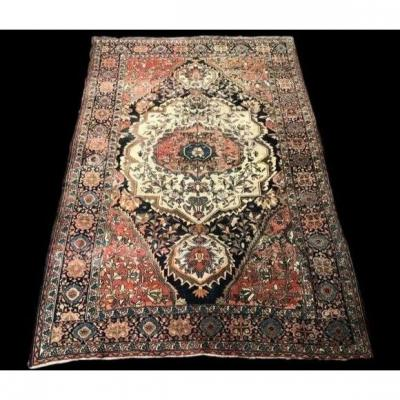 Old Persian Farahan Rug, 130 Cm X 194 Cm, Hand-knotted Wool, 19th Century, Good Condition