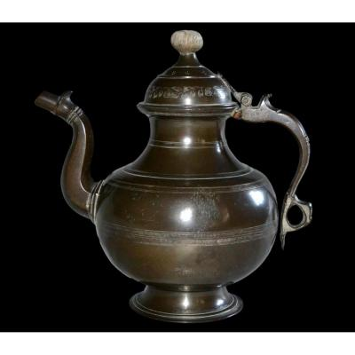 Important Jug In Kansa, India, Late 19th Or Early 20th Century, Very Good Condition