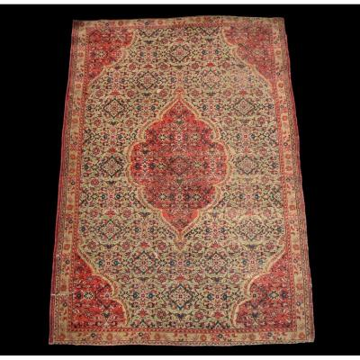 Old Persian Tabriz Carpet, Silk On Silk, 116 Cm X 168 Cm, 19th Century, Collection Condition