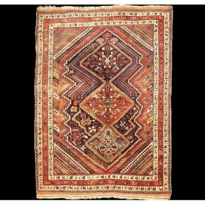 Old Afshar Carpet, 139 Cm X 182 Cm, Wool On Wool, Early 20th Century