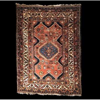 Old Gashgai Carpet, 116 Cm X 156 Cm, Iran, Wool On Wool, Early 20th Century