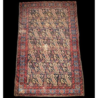 Persian Senneh Rug, 117 Cm X 187 Cm, Boteh Decor, Late 19th Century Wool