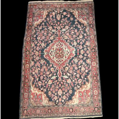 Persian Carpet Mechkabad, 125 Cm X 210 Cm, Iran, Hand-knotted Wool, Early 20th Century