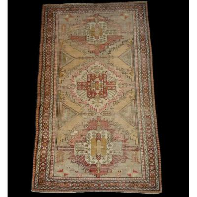 Old Chirvan Carpet, Caucasus, 99 Cm X 153 Cm, Wool On Wool, Early 20th Century