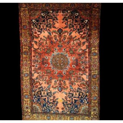 Persian Rug Tafresh, 132 Cm X 202 Cm, Iran, Wool, 19th Century, Sublime Colors
