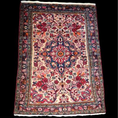 Old Hamadan Carpet, 106 Cm X 148 Cm, Hand-knotted Wool Around 1920/1930, Very Good Condition