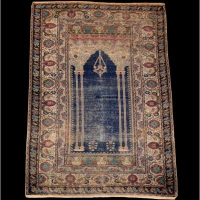 Prayer Rug With Twin Columns, Ladik, Turkey, 19th Century