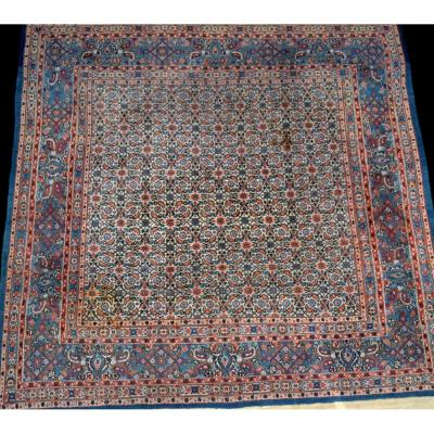 Persian Moud Rug, 200 Cm X 202 Cm, Iran, Wool And Silk, Hand Knotted, Circa 1980, Very Good Condition
