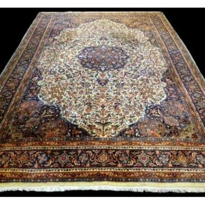 Indo-persian Rug, 247 Cm X 352 Cm, Hand-knotted Wool Circa 1970, In Very Good Condition