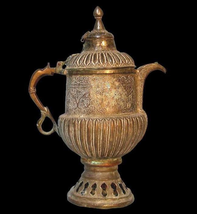 Théière-bouilloire, Perse, Asie centrale, cuivre au repoussé, XIXème siècle-photo-3