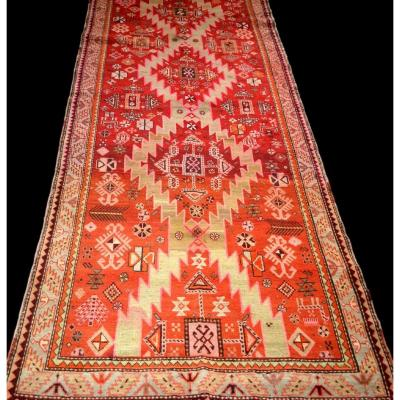 Caucasian Gallery, 123 Cm X 303 Cm, Wool On Hand-knotted Wool, Armenia, Very Good Condition