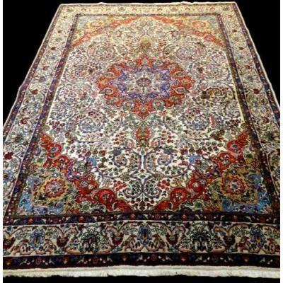 Tapis Persan Tabriz, 200 cm x 303 cm, Iran, laine nouée main vers 1980, très bon état