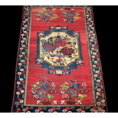 Old Karabagh Carpet, Caucasus, 154 Cm X 240 Cm, Wool / Wool, Second Half Of The 19th Century