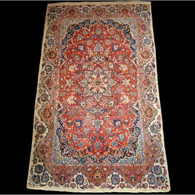Tapis Ispahan ancien, Iran, 151 cm x 254 cm, laine Kork nouée main 1890/1900 en très bon état
