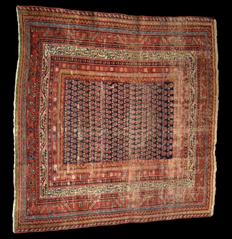 Tapis Afshar ancien, 177 cm x 178 cm, Iran, laine nouée main, fin du XIXème siècle-photo-2