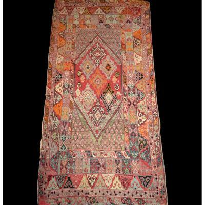 Tapis Zerbiya ancien, Rabat, Maroc, 142 cm x 290 cm, milieu du XIXème siècle,