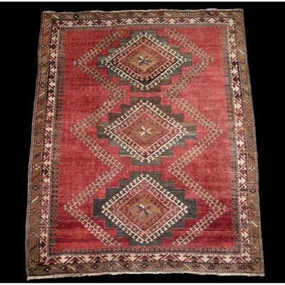 Tapis Kazak, Caucase, 142 cm x 178 cm, laine sur laine nouée main avant 1950, Très bon état