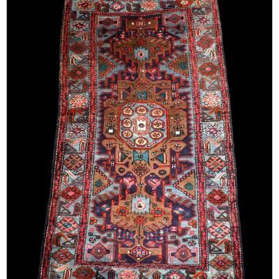 Tapis Persan Zanjan, 118 cm x 212 cm, laine nouée main, Iran, vers 1980 en parfait état