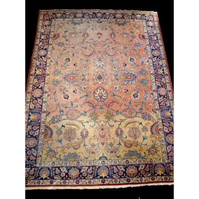 Tapis persan Tabriz ancien, 1920-1930, Iran, 252 cm x 334 cm, laine nouée main, magnifique